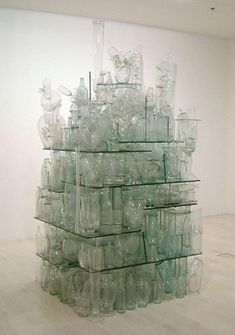 Clear Glass Stack, Tony Cragg, 1999, 2005/29
