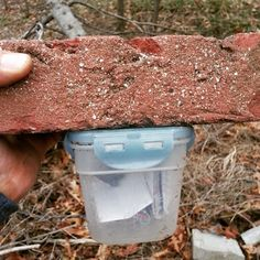 When a brick isn't just a brick.  :)  This idea is a lot easier than hollowing the brick out to fit a geocache inside.  Just remember the hiding guidelines regarding holes & caches.  #IBGCp