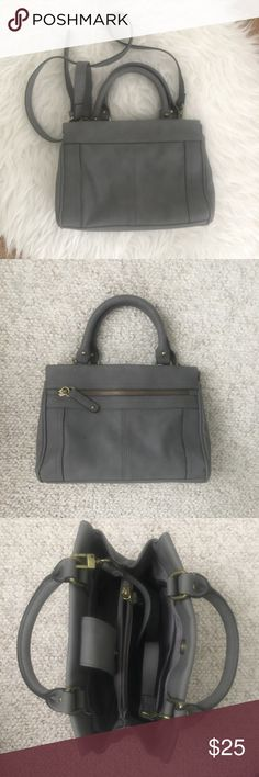 """Merona crossbody satchel Grey merona crossbody from target, excellent condition, used once or twice. No flaws. Measures 11"""" long x 7"""" tall and 5"""" wide with 5"""" handle strap drop and adjustable 20""""-24"""" cross body strap drop. Merona Bags Satchels"""