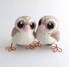 Needle Felted Baby Barn Owl