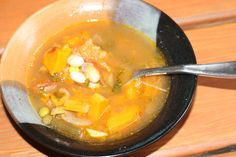 Chow and Chatter: Roasted Butternut Squash and October Bean Soup