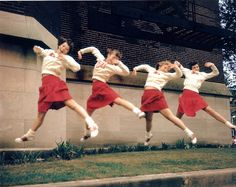 The red and white saddle shoes are beyond awesome!!! #vintage #school #cheerleader #uniform #teenagers #students #pep #saddle_shoes #1950s