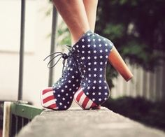 American flag #shoes
