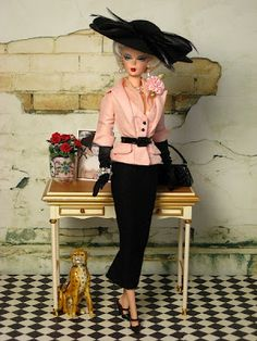The Couture Touch: Barbie Returns to 1950's Glamour