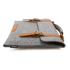 Suoran Macbook Bag Wool Felt Sleeve With Vegetable Leather Handle Briefcase Sleeve Case Portable Laptop bag for Macbook Air 11 inch