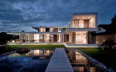 Impressionnante villa contemporaine autrichienne aux subtiles touches de bois, #construiretendance
