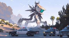 Swedish artist Simon Stalenhag imagined our future. I bet this could happen.
