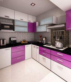 Purple Kitchen Decor Stunning Purple And Black Kitchen Decor Image . Purple Kitchen Cupboards, High Gloss Kitchen Cabinets, Kitchen Cupboard Designs, Kitchen Room Design, Modern Kitchen Cabinets, Modern Kitchen Design, Interior Design Kitchen, Kitchen Furniture, Kitchen Ideas