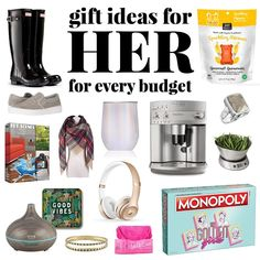 Take the stress out of gift giving with 90 unique and practical Christmas Gift Ideas for HER - your BFF, mom, aunt, sister. Gifts for her to fit any budget!