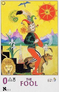 0. The Fool:  Parrott Tarot