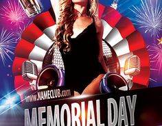 "Check out new work  ""Memorial day FREE PSD Flyer Template"" #memorial #event #party #day"