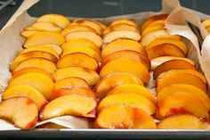 HOW TO FREEZE YOUR PEACHES   1) remove the peel (most often with a potato peeler, but will blanch if there is lots & lots to do)  2) slice   3) dip each slice into a bowl of 7UP (to prevent the discoloration)  4) place drained slices onto a cookie sheet or jelly roll pan, single layer with no pieces touching  5) flash freeze those trays for a couple hours (less in my chest freezer)  6) using a metal spatula, REMOVE the frozen peaches  and place as many as desired into ziptop FREEZER bags