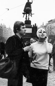 Injured protester Prague 1968 Vintage Photographs, Vintage Photos, Great Photos, Old Photos, Prague Spring, Prague Czech Republic, Human Connection, Documentary Photography, Women In History