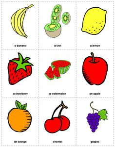 Fruit Flash Cards Printables
