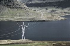 Powerlines in Iceland!!... I wish we had guys that just held up the power.