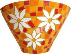 inspiração e diversão: modelos de mosaico Mosaic Planters, Mosaic Birdbath, Mosaic Vase, Mosaic Flower Pots, Mosaic Birds, Mosaic Garden, Mosaic Crafts, Mosaic Projects, Flower Pot Design