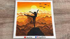 Sunset Dance Acrylic Painting   Joy of Art #193 Painting & Drawing, Tube, Joy, Dance, Sunset, Yellow, Drawings, Dancing, Glee