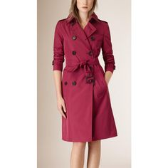 Showerproof Technical Trench Coat BURGUNDY (€2.185) ❤ liked on Polyvore featuring outerwear, coats, burgundy coat, lightweight trench coat, burgundy trench coat, burberry trenchcoat and burberry coat