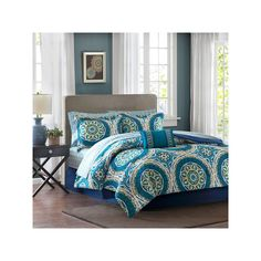 Madison Park Essentials Orissa Bed Set, Blue
