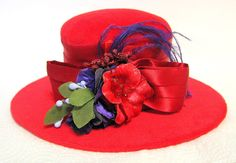 Red Hat Society Hat Pin Cushion