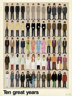 Beatles outfits. #beatles #ages #outfits