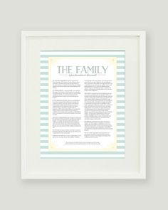 LDS The Family Proclamation to the World