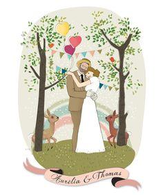 faire part mariage // illustration © Lidia Kostanek