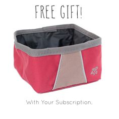 YEEES! Subscribe to #pawpalswithannie #dog #subscriptionbox and get a FREE ZippyPaws! canvas water bowl with your subscription! Click on our link or go to Pawpalswithannie.com to get your box now!