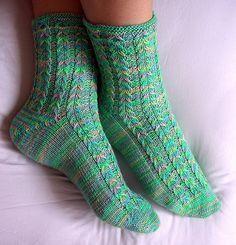 Ravelry: Ambrosia Socks pattern by Ann Budd