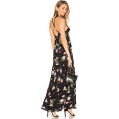 FLYNN SKYE Adaline Maxi Dress (1.970 ARS) ❤ liked on Polyvore featuring dresses, cut out maxi dress, rayon dress, cut out dresses, maxi length dresses and cutout dresses