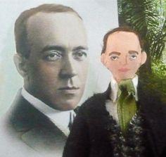 Writer Doll Edgar Rice Burroughs Author of Tarzan Art Collectible Miniature