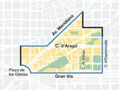 Fanning out like a pizza slice from Plaça de les Glòries towards the city centre, El Clot is wedged between Gran Via and La Meridiana and cut in two by the busy Carrer Aragó.