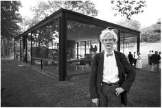 Andy Warhol at Philip Johnson's Glass House, Digital pigment print, 1981, $2,000-$2,800.Courtesy of Paddle8.