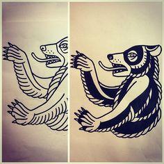 Sketching traditional berliner bear. www.jorge.tattoo  #berlinerbear #berliner #traditionaltattoo #traditionalberlinerbear #tattoo #berlin #germany #jorgetattoo