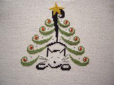 free cat tree cross stitch patterns | ... pattern I got from Just Cross stitch, Christmas Ornaments 2011, from