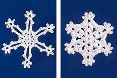Schneeflocken häkeln: Winterdeko fürs Fenster - Familie.de