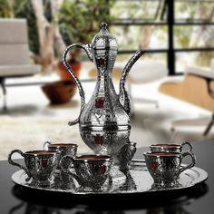 Silver Plated Moroccan Tea Set