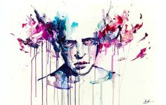 Watercolor Paintings by Agnes Cecile watercolor portraits painting Art And Illustration, Watercolor Portrait Painting, Watercolor And Ink, Painting Art, Agnes Cecile, Art Google, Love Art, Minion, Art Projects