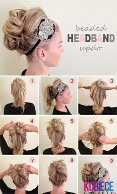 Headband updo This looks like our 2013 senior lyrical headband