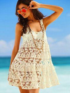 Boho laces dress fashion