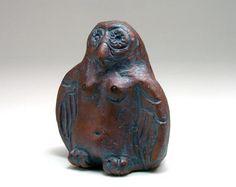 Lillith Owl Goddess Clay Rattle Altar Shaker