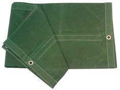 Heavy Duty Waterproof Green Tarp with Reinforced Corners Bundled with Carabiner Flashlight 8X10