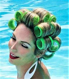 Sleep In Hair Rollers, Hair Curlers Rollers, Perm Rods, Roller Set, Perms, Vintage Glamour, Curled Hairstyles, Her Hair, Hair Beauty