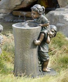 Another great find on Boosting Children Fountain by Showtime Sales Bronze Sculpture, Sculpture Art, Garden Sculpture, Garden Water Fountains, Garden Statues, Garden Ornaments, Outdoor Art, Yard Art, Oeuvre D'art