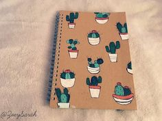 cactus notebook DIY http://allmylovezoesarah.blogspot.co.uk/2016/04/eight-cute-and-simple-diys.html