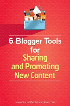 Do you want more people to find your blog posts? Looking for tools to help? In this article, you��ll discover six tools that will help boost the visibility of your blog posts. #Blogging #SocialMedia #SocialMediaExaminer