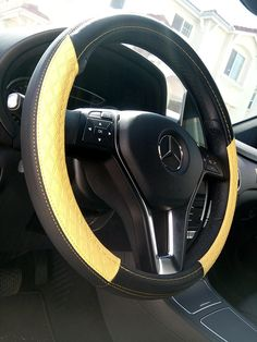 Black /& Purple Slip-On Style PU Steering Wheel Cover Perfect Fit Non-Slip Comfy