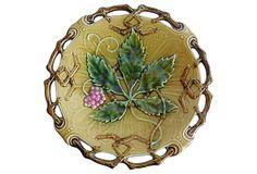 Majolica Reticulated Leaves Wall Plate on OneKingsLane.com