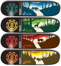 "Element ""Crossing"" Skateboard Decks - F5toRefresh"