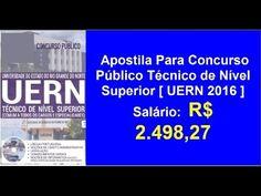 Edital Apostila Concurso Técnico Nível Superior [ UERN 2016 ] | Afiliado Digital Online